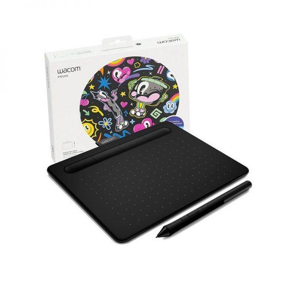 Tableta Digitalizadora Wacom Intuos Small Negra + 3 Soft Gratis