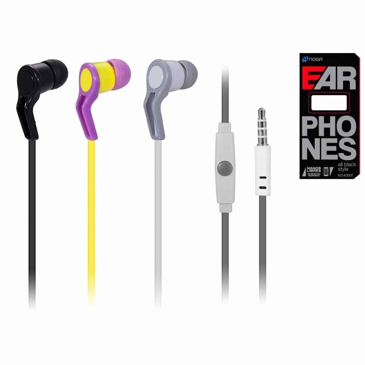 Auricular earphone inear manos libres X-6060 Noga
