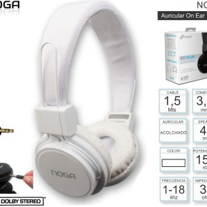 Auricular Headphone Vincha Microfono Manos Libres Fit NG-55 Noga Colores
