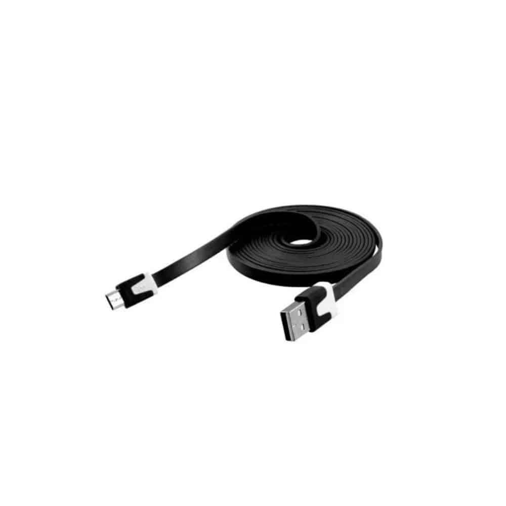 Cable USB a MicroUSB plano Netmak NM-C68 1.8 mts