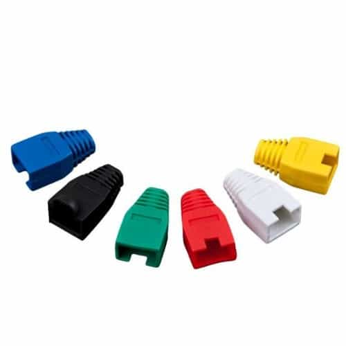 Capuchon Ficha Rj45 Lan Ethernet Cable red varios Colores