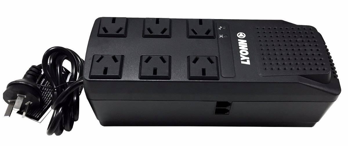 Estabilizador de tension automatico TCA-1200NV LYONN 6 tomas