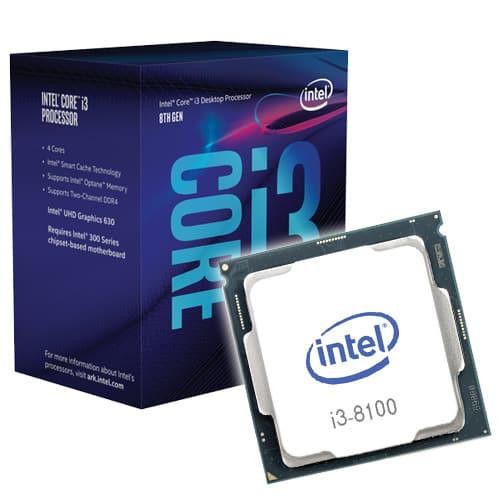 Microprocesador Intel I3-8100 3MB 3.60 GHz Socket 1151 - 8° Gen